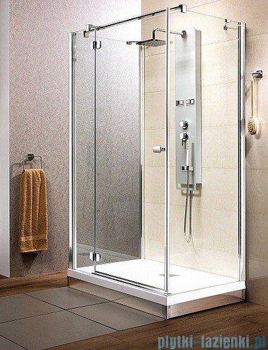 Radaway Kabina prysznicowa Fuenta KDJ+S 80x100x80 lewa szkło przejrzyste + Brodzik Argos D + syfon 381033-01L1 / 381033-01L2