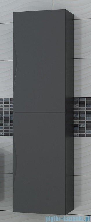 Antado Wave słupek z drzwiczkami 40x31,5x150cm biały połysk VA-160-WS