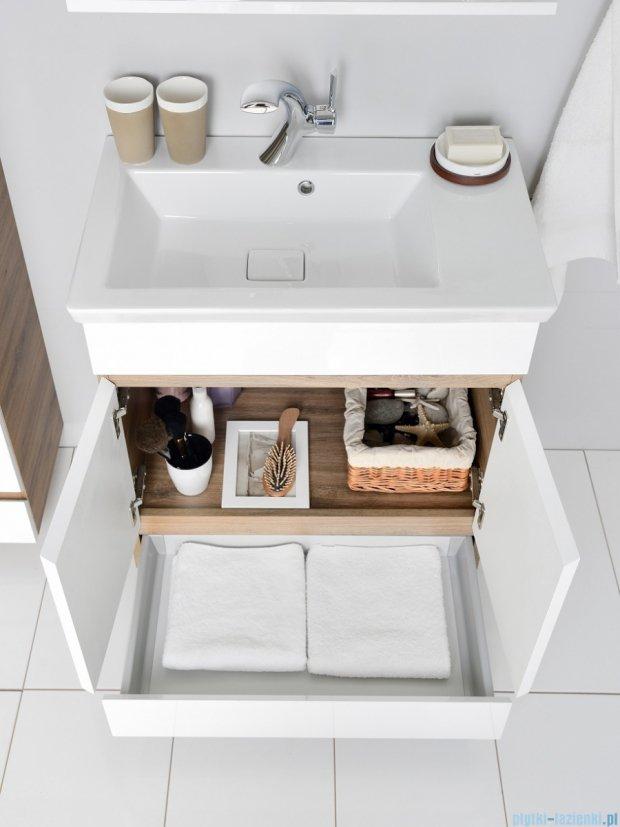 Antado Gabi szafka z umywalką 56x30cm dąb tabak+biały GBY-140/60-3216/WS+UCS-IS-60