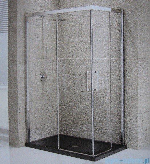 Novellini Elysium Kuadra A Ścianka prysznicowa 90cm lewa szkło przejrzyste profil chrom KUADA90LS-1K