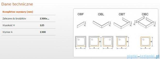 Sanplast Obudowa frontowa do brodzika OBF 130x12,5 cm 625-401-0360-01-000