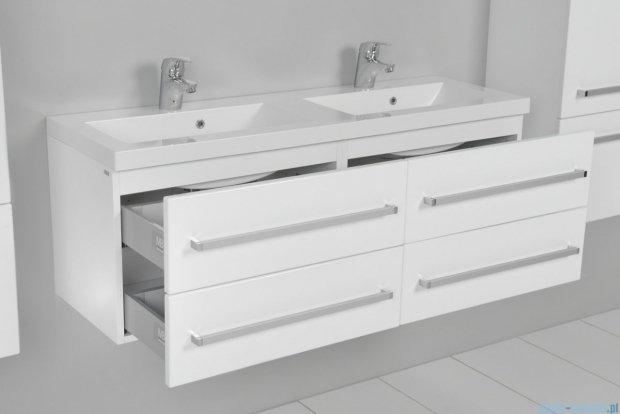 Antado Variete szafka z umywalką, wisząca 120 biały połysk FM-C-442/6/2 + FM-C-442/6/2 + UMMC-1200x390D