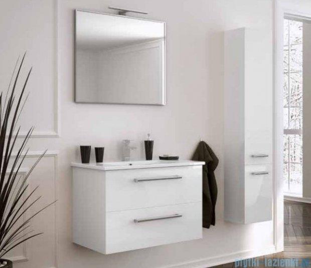 New Trendy Fargo szafka umywalkowa  55 + umywalka biały połysk ML-AR055