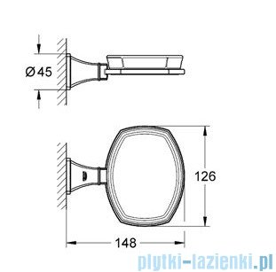 Grohe Grandera uchwyt z ceramiczną mydelniczką chrom/złoty 40628IG0