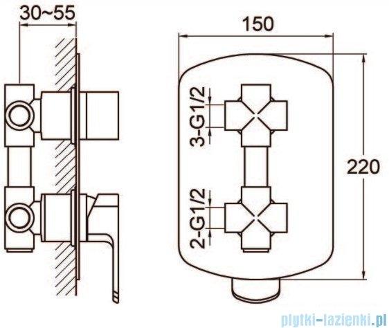Kohlman Foxal zestaw prysznicowy chrom QW211FQ20-009
