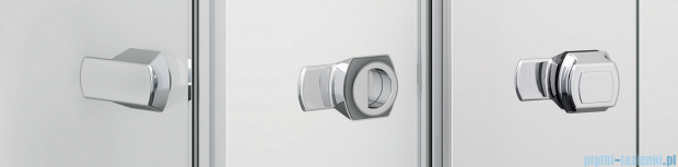 SanSwiss Melia ME1 drzwi lewe wymiary specjalne do 100cm pas satynowy ME1GSM11051