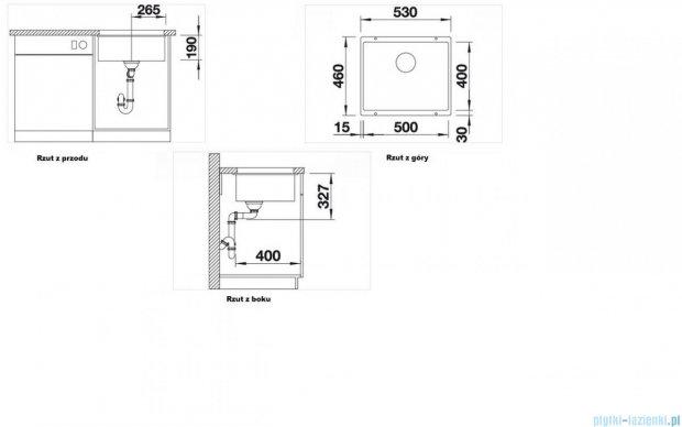Blanco Subline 500-U zlewozmywak Silgranit PuraDur  kolor: jaśmin  z k. aut.  513410