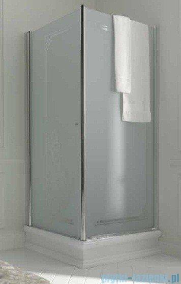 Kerasan Retro Kabina kwadratowa prawa szkło dekoracyjne piaskowane profile chrom 90x90 9146P0