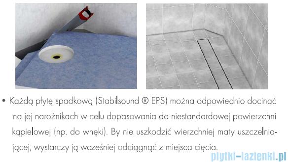 Schedpol brodzik posadzkowy podpłytkowy ruszt Stamp 100x100x5cm 10.003/OLKB/SP