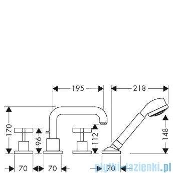 Hansgrohe Axor Citterio Element zewnętrzny do baterii 4-otworowej 39453000