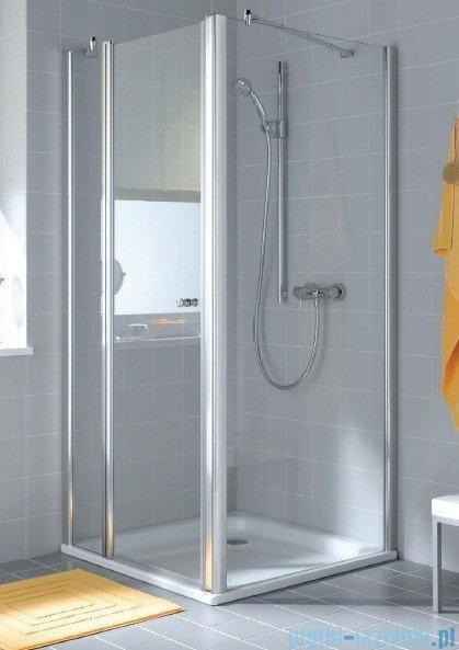 Kermi Atea Ściana boczna, szkło przezroczyste, profile białe 120cm ATTWD120182AK