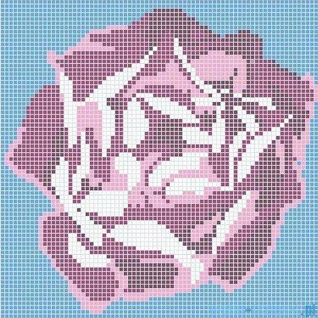 Dunin Q design mozaika szklana wzór 164x164 rose
