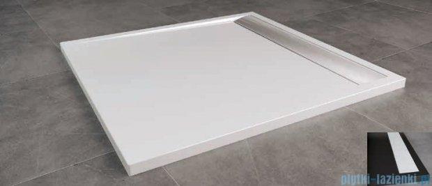 SanSwiss Ila WIQ Brodzik kwadratowy 100x100cm kolor czarny/biały WIQ10004154