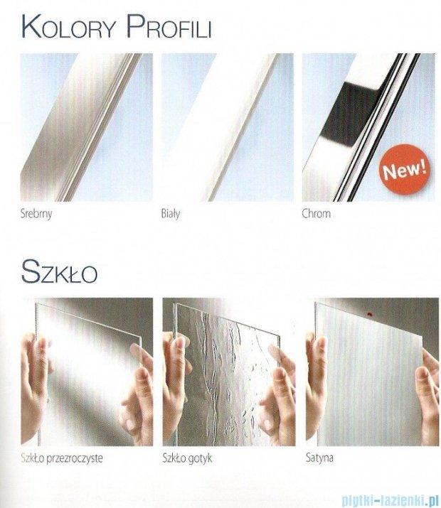 Novellini Parawan Aurora2 120x150cm profil biały szkło przezroczyste AURORAN2-1A