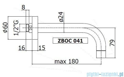 Paffoni  Wylewka ścienna L=175 mm Stick ZBOC041