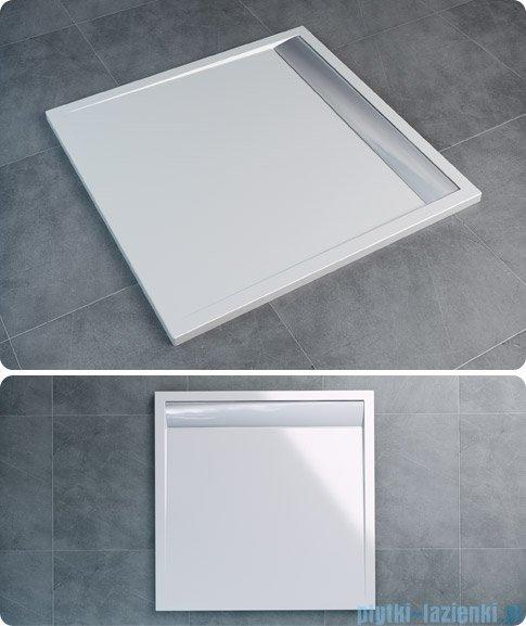 SanSwiss Ila WIQ Brodzik kwadratowy 80x80cm kolor czarny/połysk WIQ08050154