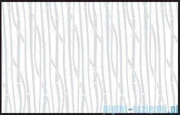 Kermi Cada Kabina ćwierćkolista z drzwiami wahadłowymi, szkło Serigrafie CadaClean 80x80cm CAP4808018VCK
