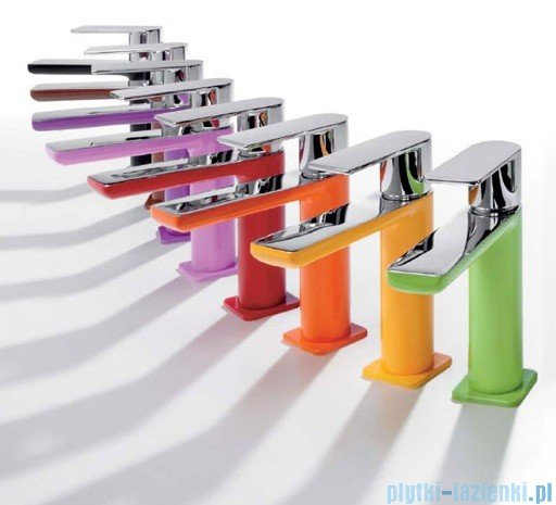 Tres Loft Colors Bateria umywalkowa z korkiem automatycznym kolor różowy 200.103.01.FU.D