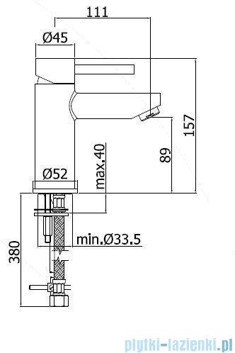 Paffoni Bateria umywalkowa stojąca Stick chrom SK071HCR