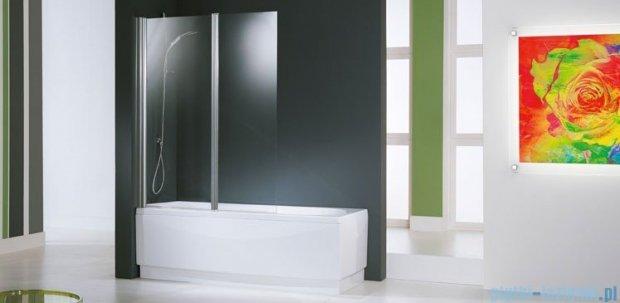 Novellini Parawan Aurora2 120x150cm profil srebrny szkło satyna AURORAN2-4B