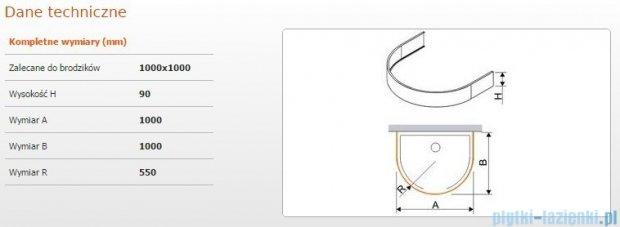 Sanplast Obudowa brodzika OBPP 100x100x9 cm 625-400-0460-01-000