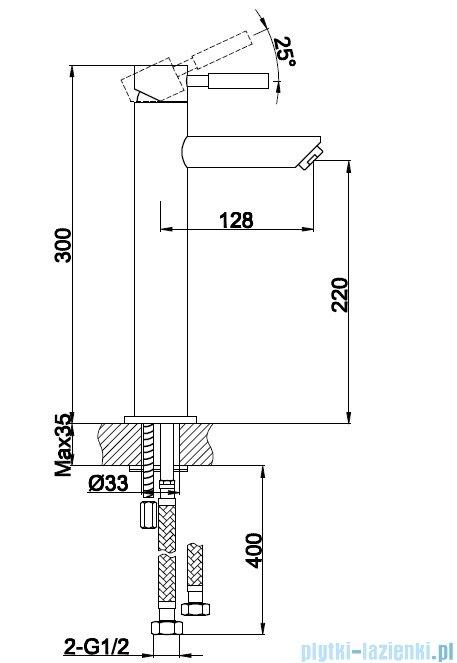 Kohlman Roxin bateria umywalkowa wysoka QB170R
