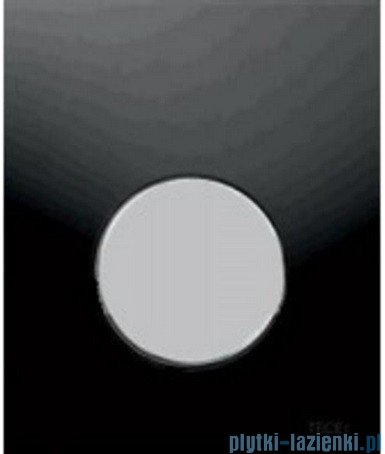 Tece Przycisk spłukujący ze szkła do pisuaru Teceloop szkło czarne, przycisk chrom matowy 9.242.655
