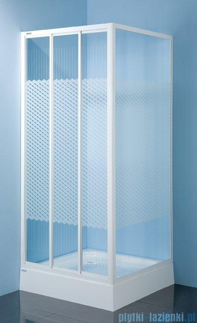 Sanplast kabina narożna kwadratowa KN/DTr-c-80 szkło: Sitodruk W4 600-013-0321-01-410