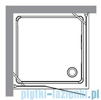 Kerasan Kabina kwadratowa prawa szkło dekoracyjne piaskowane profile chrom 100x100 Retro 9149P0