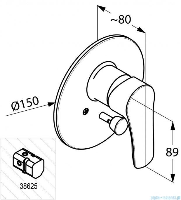 Kludi Tercio Podtynkowa bateria wannowo-natryskowa chrom 384190575