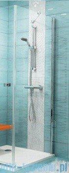 Ravak Ścianka prysznicowa stała SmartLine SMPS-80 Prawa chrom+transparent 9SP40A00Z1