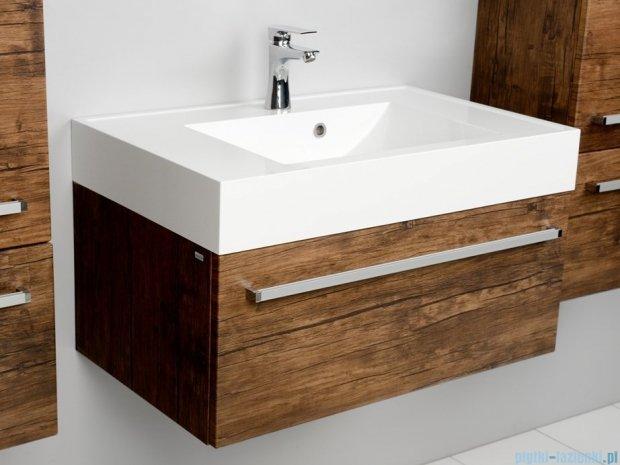 Antado Spektra szafka z umywalką, wisząca 80x50x33 stare drewno FDF-442/8GT-50 + UNA-800