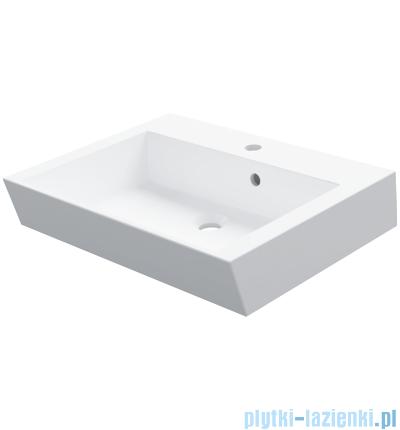 Omnires Lanzarote Marble+ umywalka nablatowa 60x45cm Biała