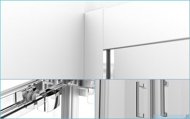 Besco Modern kabina kwadratowa 90x90x165cm grafitowe MK-90-165-G
