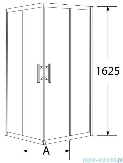 Sea Horse Sigma zestaw kabina natryskowa kwadratowa 80x80x162cm chinchila+brodzik BKZ1/3/QK
