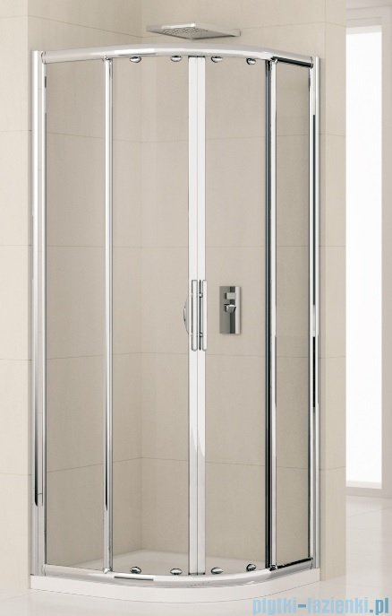 Novellini Kabiny prysznicowa półokrągła LUNES R 100x100 cm szkło przejrzyste profil chrom LUNESR100-1K