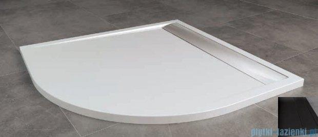 SanSwiss Ila Wir Brodzik półokrągły 90x90cm kolor czarny/czarny WIR5509006154