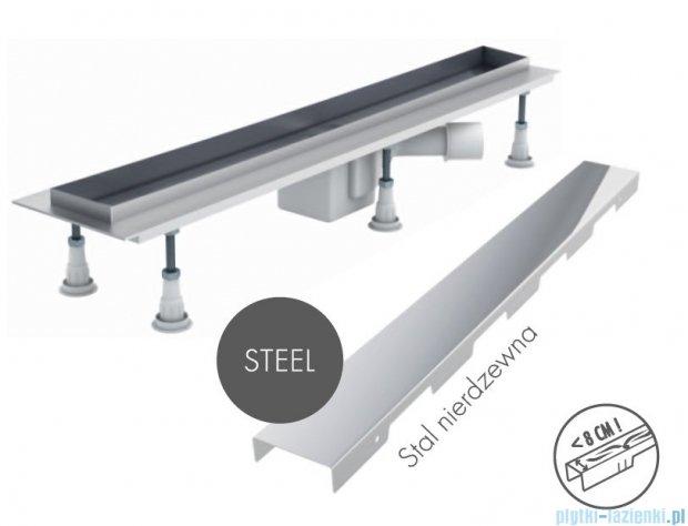 Schedpol odpływ liniowy z maskownicą Steel 90x8x9,5cm OLSL90/ST