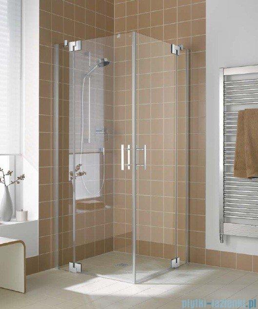 Kermi Filia Xp Wejście narożne, jedna połowa, lewa, szkło przezroczyste, profil srebro 80x200cm FXEPL08020VAK