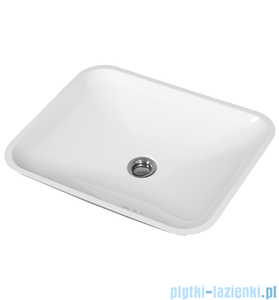 Omnires Corsica Marble+ umywalka nablatowa 50x40cm biała