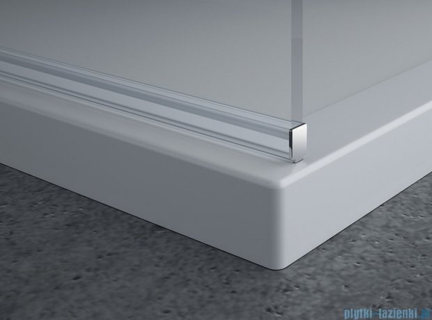SanSwiss Pur PDT4P Ścianka wolnostojąca 80cm profil chrom szkło przezroczyste PDT4P0801007