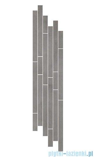 Paradyż Tecniq silver mix paski listwa 14,8x71