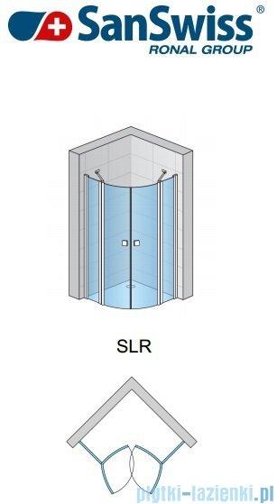 SanSwiss Swing Line SLR Kabina półokrągła 100-120cm profil srebrny SLR50SM20107