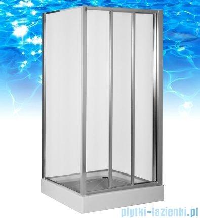 Omnires R kabina prostokątna 120x100x185cm szkło przejrzyste R-120D+R-100STR
