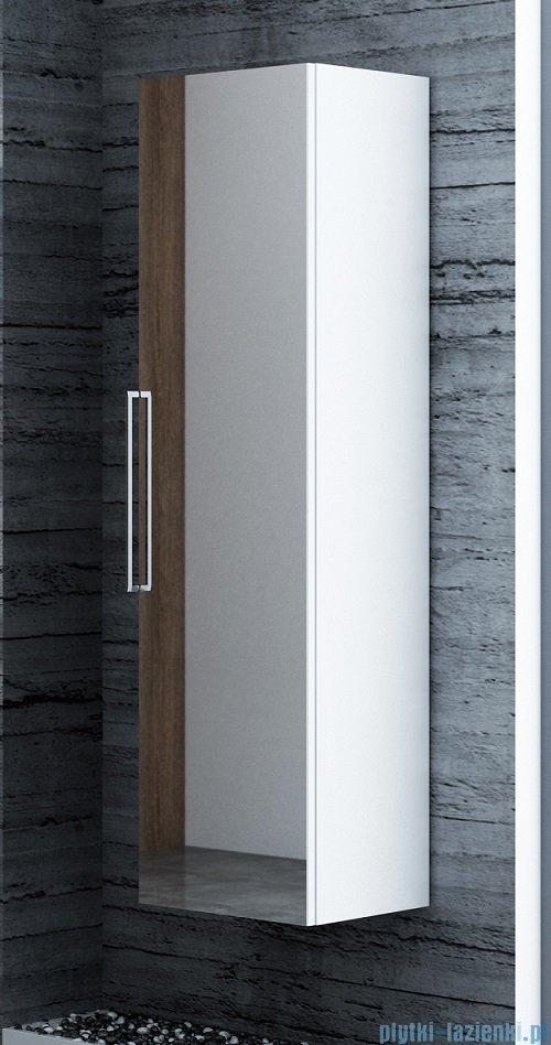 Antado Susanne słupek wysoki z lustrem 35x34cm biały połysk AS-163/1-WS