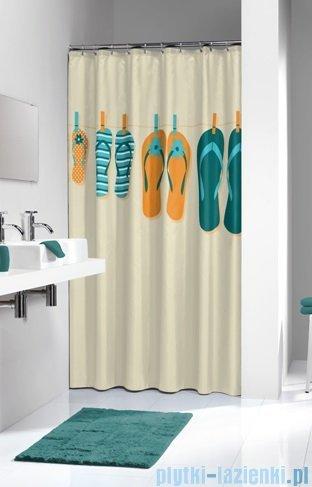 Sealskin Slippers Orange zasłona prysznicowa tekstylna 180x200cm 235261345