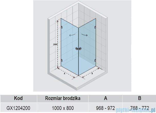Riho Scandic Lift M209 kabina prysznicowa 100x80x200 cm GX1204200
