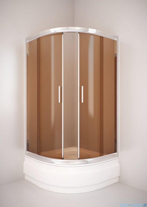 Sea Horse Sigma kabina natryskowa narożna półokrągła - niska, 80x80, szkło: brązowe,   BK001/3/KB