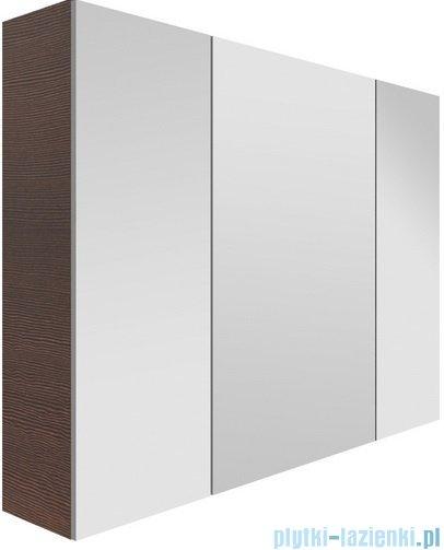 New Trendy szafka wisząca z lustrem One 80cm biały połysk ML-0019