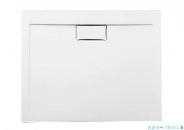 Polimat Comfort brodzik akrylowy posadzkowy 100x80 biały połysk 00117